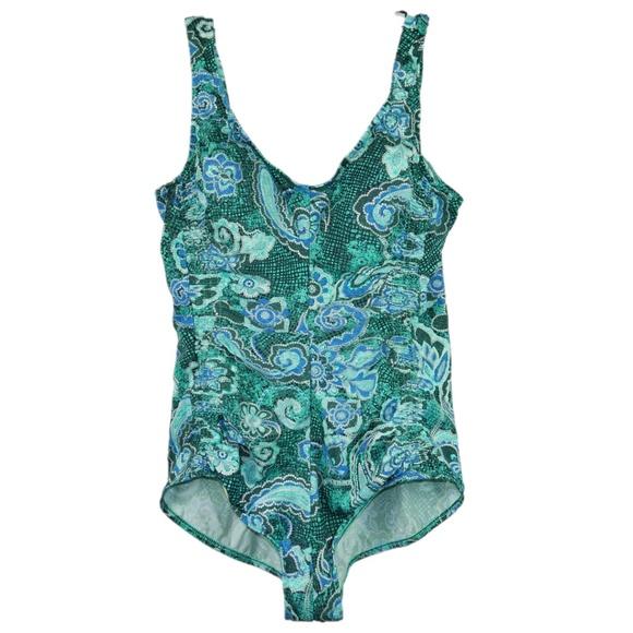 2334e67504 Maxine of Hollywood Swim | Maxine Plus Size 20w Paisley One Piece ...